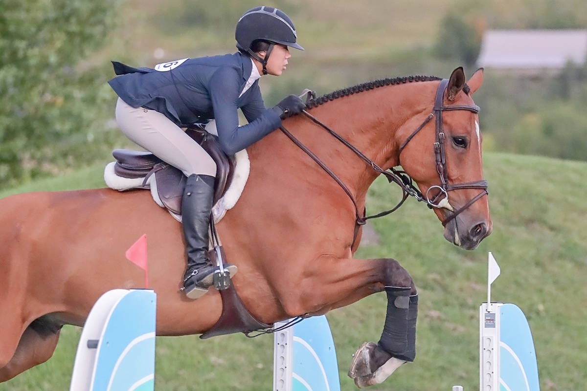 Emma Woo, a 16-year-old South Surrey resident who rides out of Jump Start Stables in Langley, has won the prestigous J.C. Anderson Legacy Medal. ( Amanda Ubell/special to Langley Advance Times)