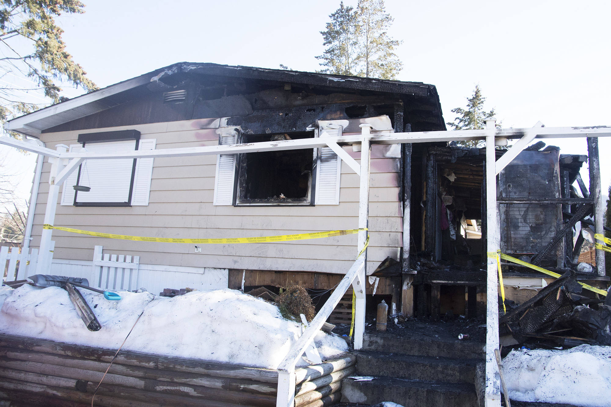 A man charged with the murder of Gordon Parmenter has also been charged with arson regarding the fire that struck the Parmenter family's home in Broadview Mobile Villa on March 14. (File photo)