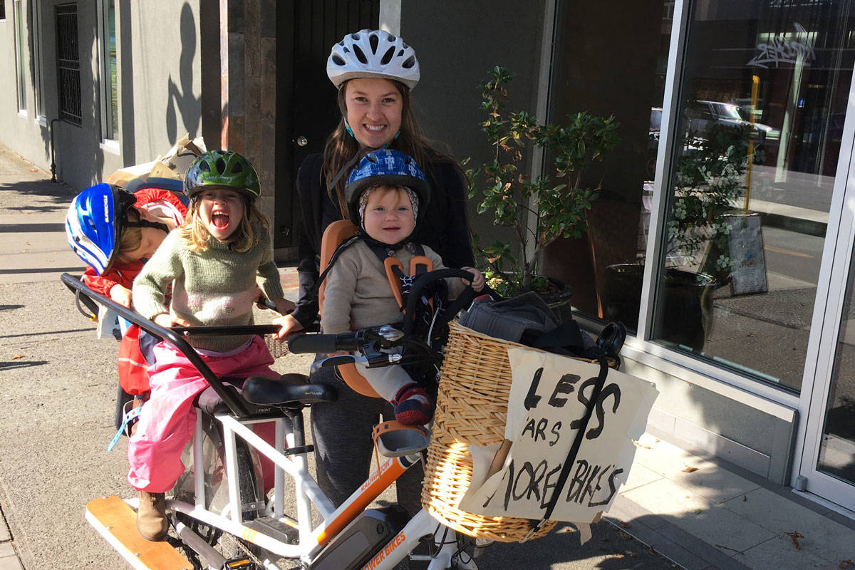Charity Millar and her family of five have been car-free for several years. (Photo courtesy Charity Millar)