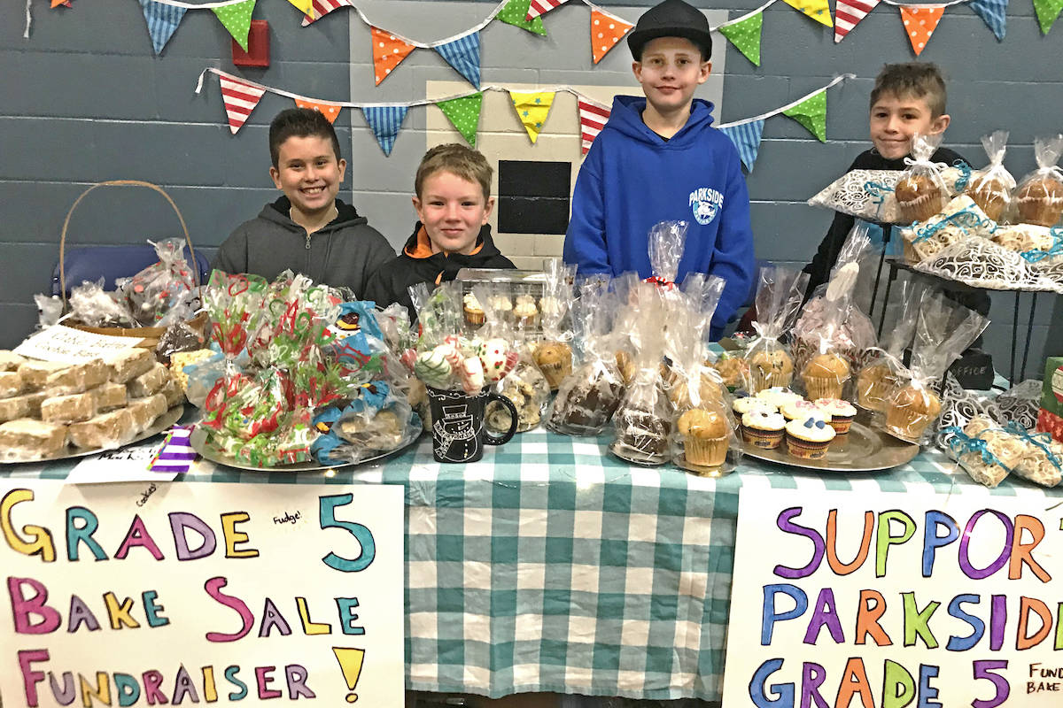A group of Grade 5 boys from the school combined their baking efforts to create an entire bake shop – with the help from their parents, of course. (Sarah Grochowski photo)