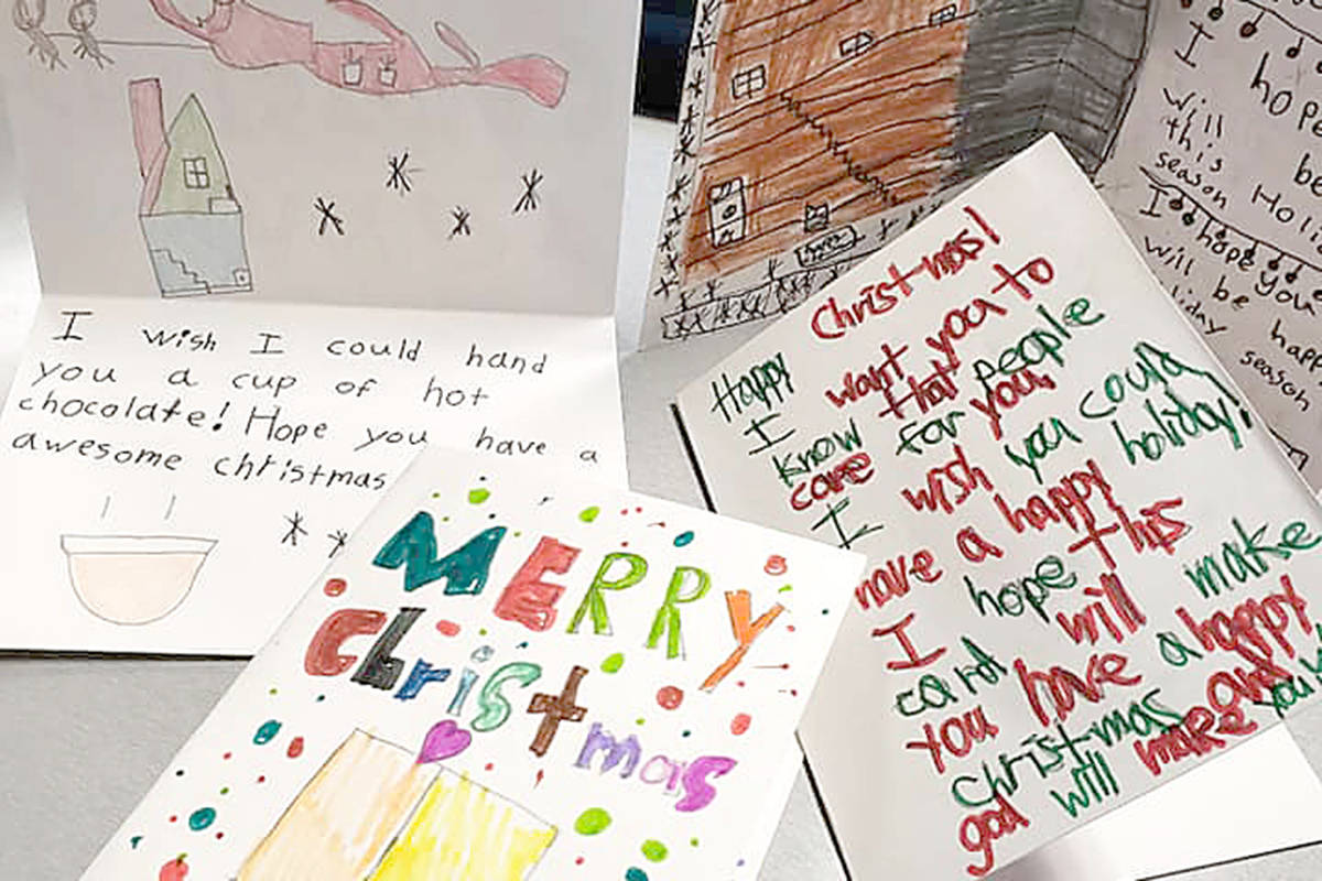 Now in its third year, the Christmas Card Collective aims to see 10,000 cards filled and delivered to people sleeping in shelters this holiday season. (Contributed photo)