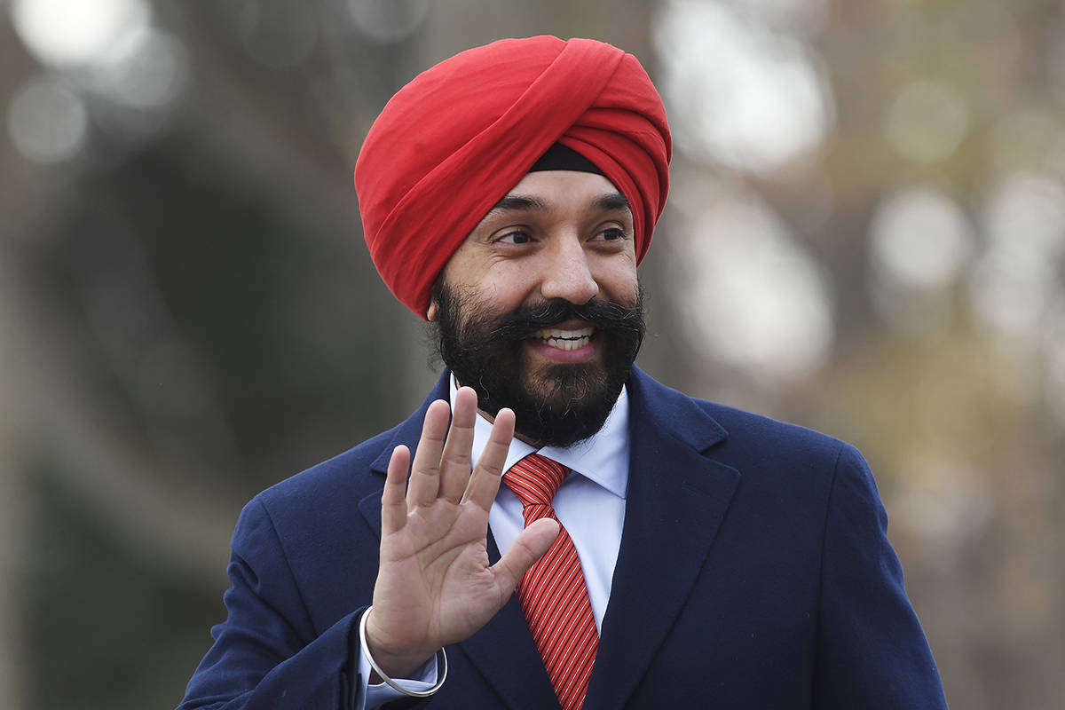 Liberal MP Navdeep Bains arrives for the swearing-in ceremony in Ottawa on Wednesday, Nov. 20, 2019. THE CANADIAN PRESS/Adrian Wyld