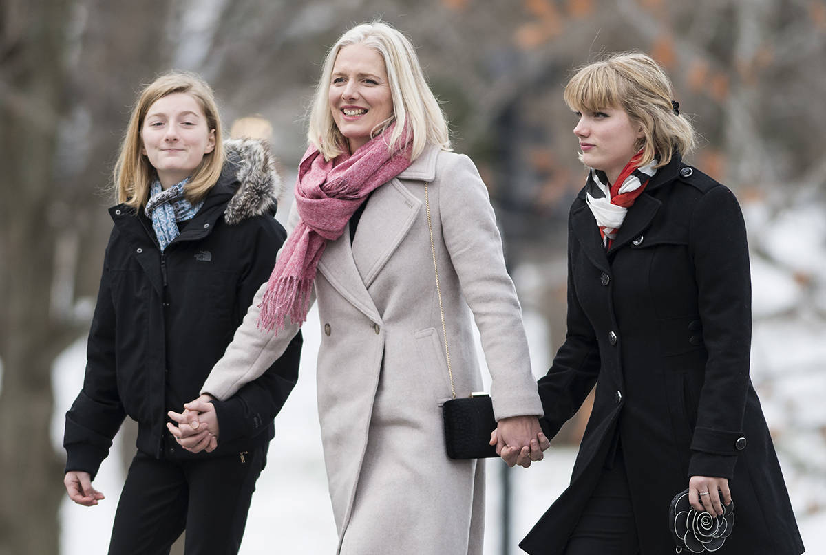 Liberal MP Catherine McKenna arrives for the swearing in of the new cabinet at Rideau Hall in Ottawa on Wednesday, Nov. 20, 2019. THE CANADIAN PRESS/Sean Kilpatrick
