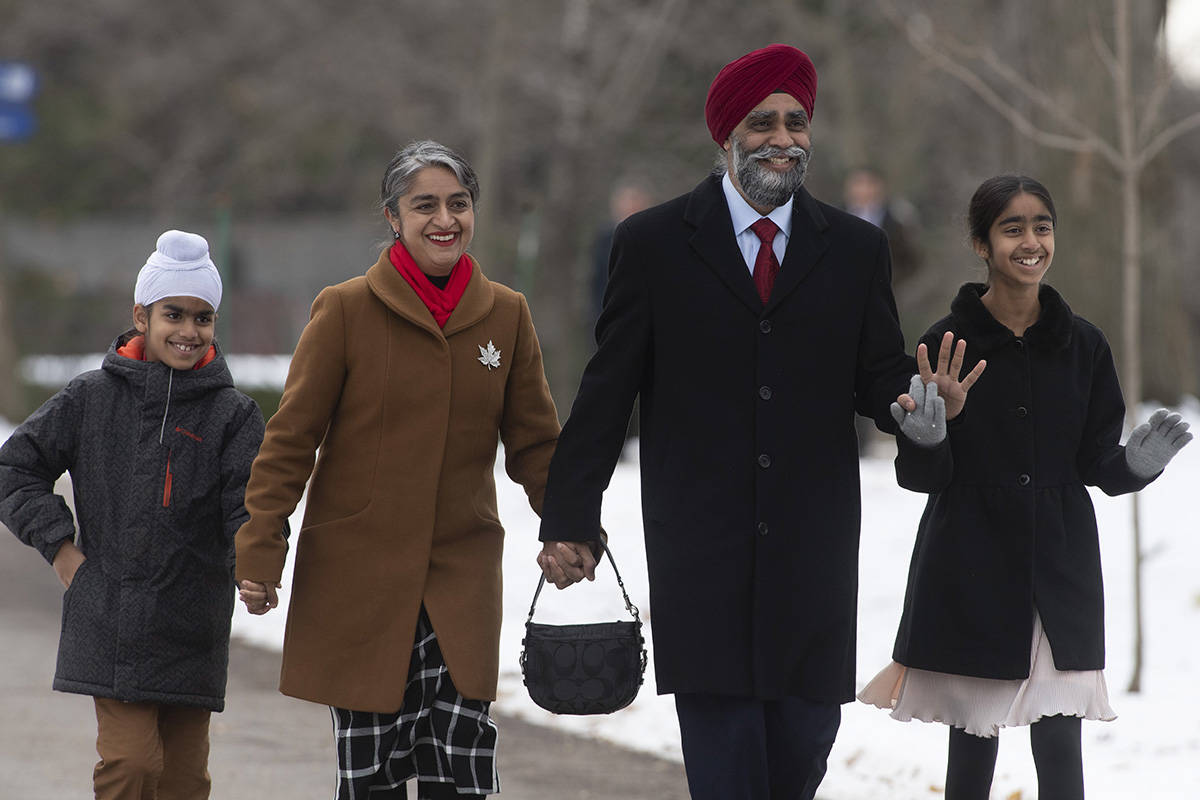 Liberal MP Harjit Sajjan arrives for a swearing in ceremony at Rideau Hall in Ottawa, Wednesday, November 20, 2019. THE CANADIAN PRESS/Adrian Wyld