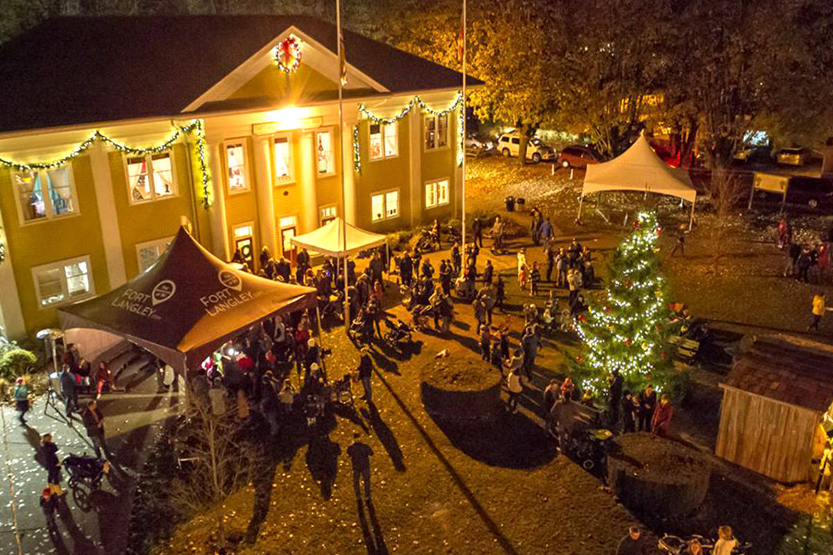 Santa will arrive in Fort Langley on Nov. 30 to light the Christmas tree in front of the community hall. (Fort Langley/Special to the Langley Advance Times)