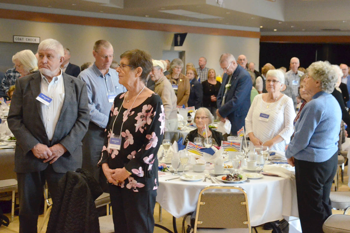 More than 400 people gathered for the annual Pioneer Banquet on Nov. 19. (Heather Colpitts/Langley Advance Times)