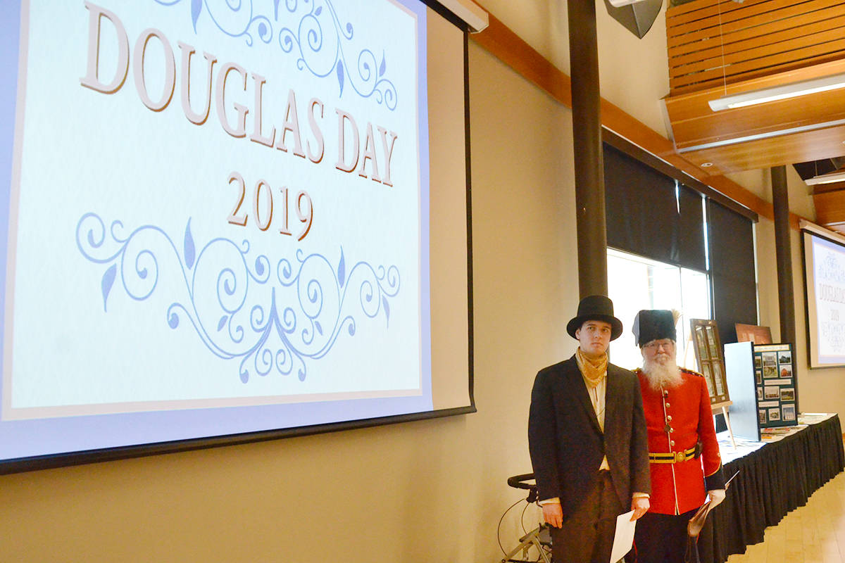 Re-enactors from the Fort Langley National Historic Site provided some of the entertainment at the Pioneer Banquet. (Heather Colpitts/Langley Advance Times)