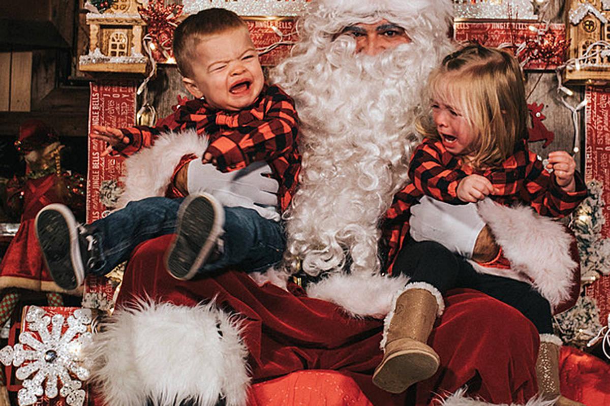 VIDEO: Langley twins get RAD with Santa photos
