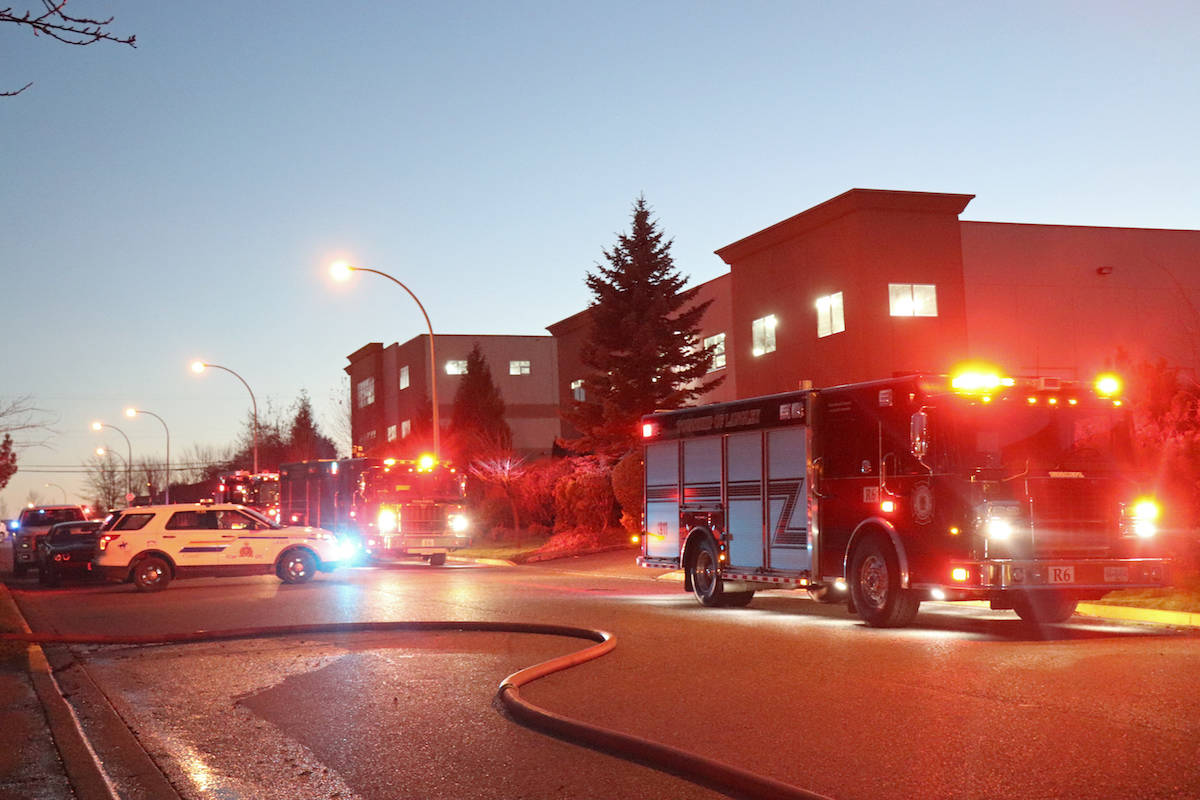 Loud 'boom' first sign of fire at Aldergrove industrial unit