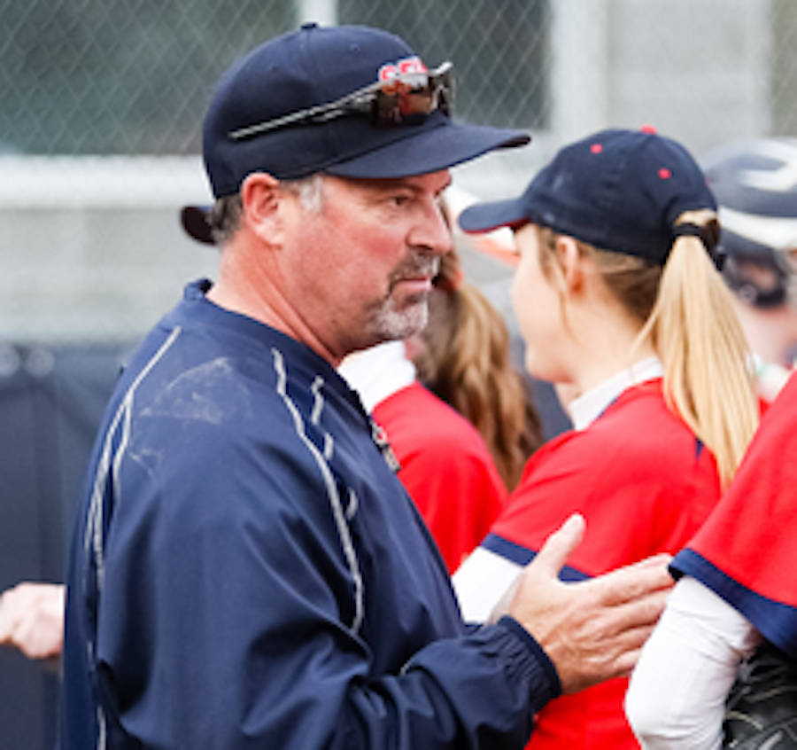 Softball coach Mike Renney first got his start as a minor league coach at the age of 20 in Aldergrove, where he grew up. From there, he ascended to head coach of SFU's Clan and was inducted into the sport's BC Hall of Fame, NAIA Hall of Fame, and this week, the Canadian Hall of Fame. (Burnaby Sports Hall of Fame photo)