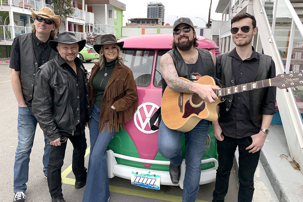 """Langley-based band Me and Mae celebrate the release of a new music video, """"Buzz On."""" (Me and Mae/Special to the Langley Advance Times)"""