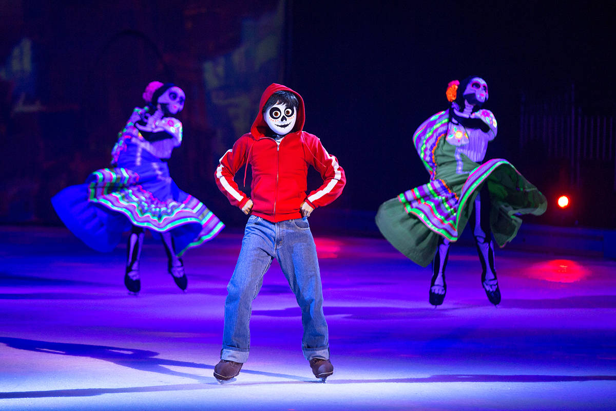 """Miguel and others from the Disney/Pixar movie """"Coco"""" are featured in the latest Disney on Ice production in Vancouver."""