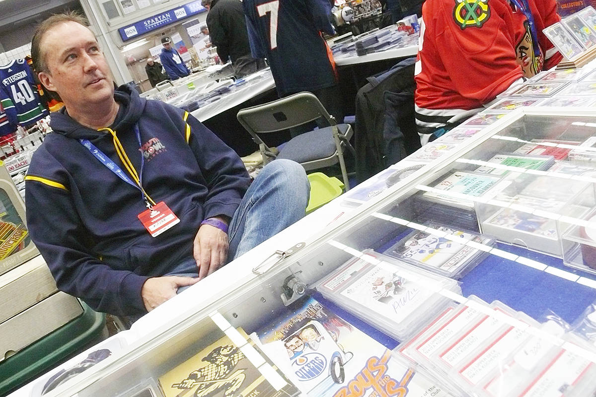 Willoughby resident Wayne Campbell was one of the vendors at the annual Western Canada Collectibles Experience (WCCE) show at the Langley Events Centre. (Dan Ferguson/Langley Advance Times)