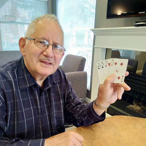 Bob Rogalski beat 200,000-to-one odds to get a 29 hand at cribbage (Photo courtesy Bob Rogalski)