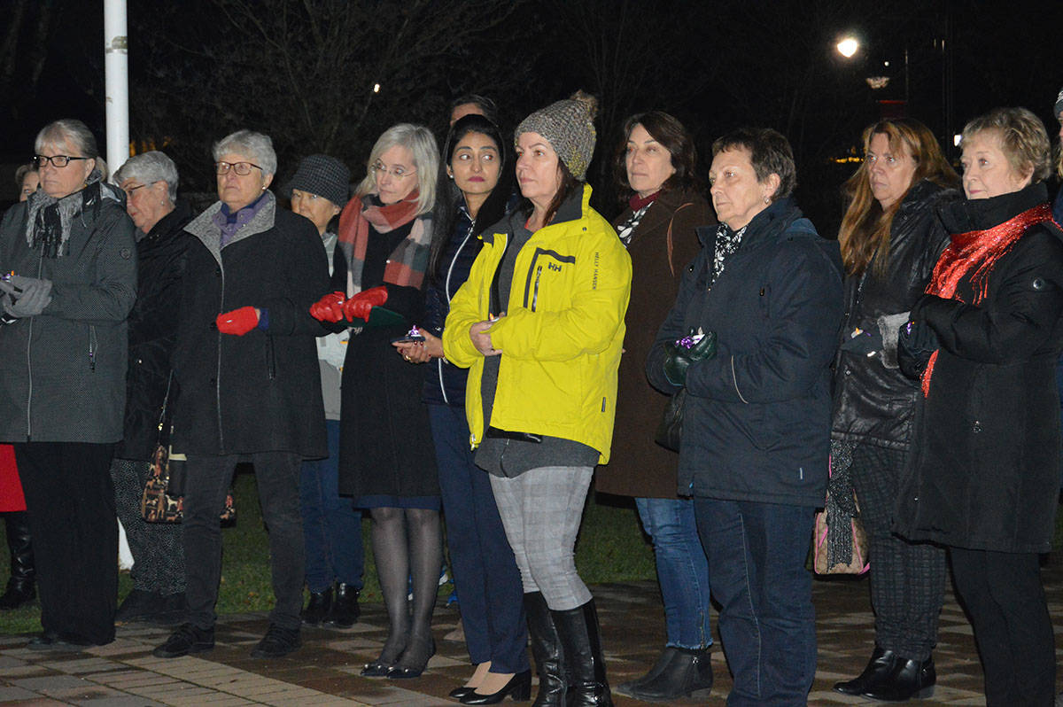 VIDEO: Langley stands with victims of domestic violence