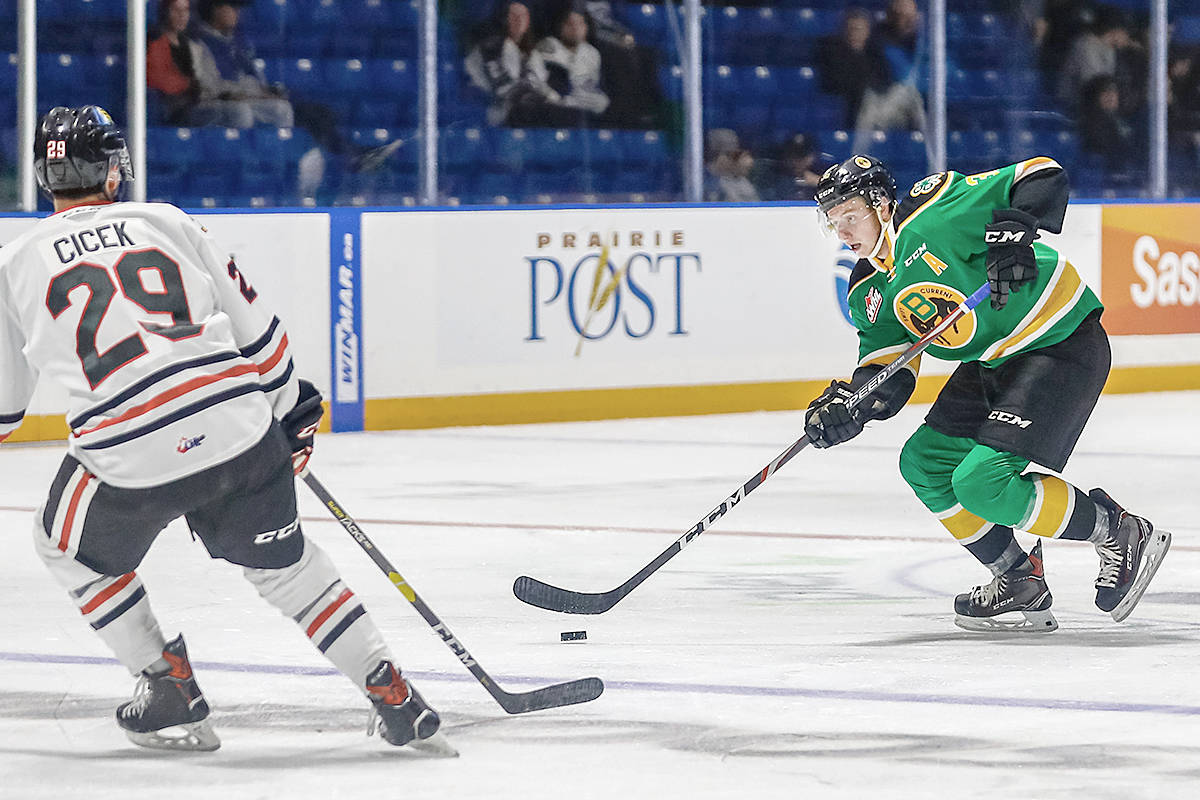 Giants have acquired 2001-born defenceman Connor Horning from the Swift Current Broncos (Ed Fonger)