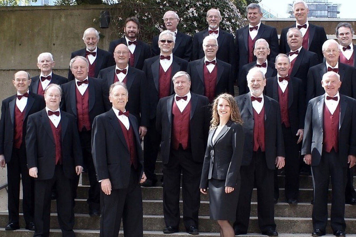 Vancouver Orpheus Male Voice Choir, which features Langley members, will be performing in Langley on Dec. 6th. (Vancouver Orpheus Male Voice Choir/Special to the Langley Advance Times)