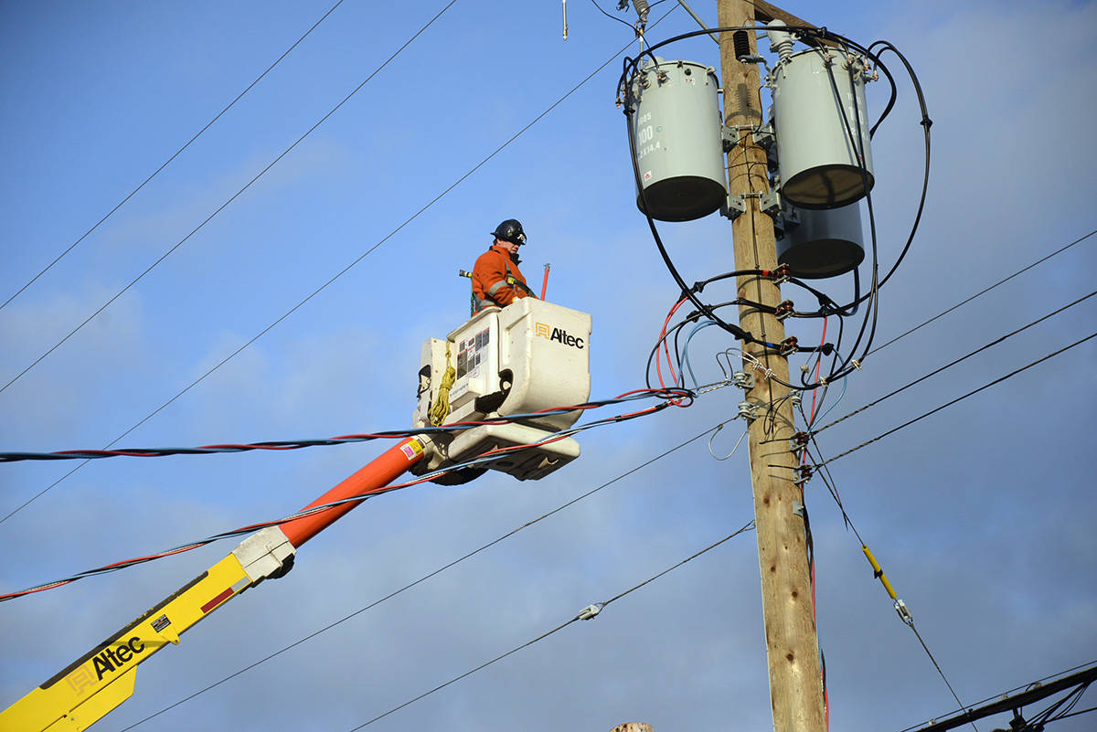 Winds have knocked out power to a few neighbourhoods around Langley. (Black Press Media file)
