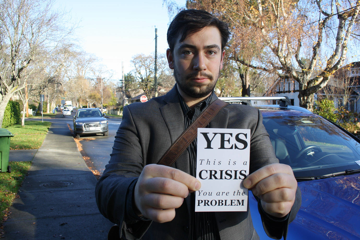 Meet the Victoria environmentalist behind those controversial car-shaming handbills