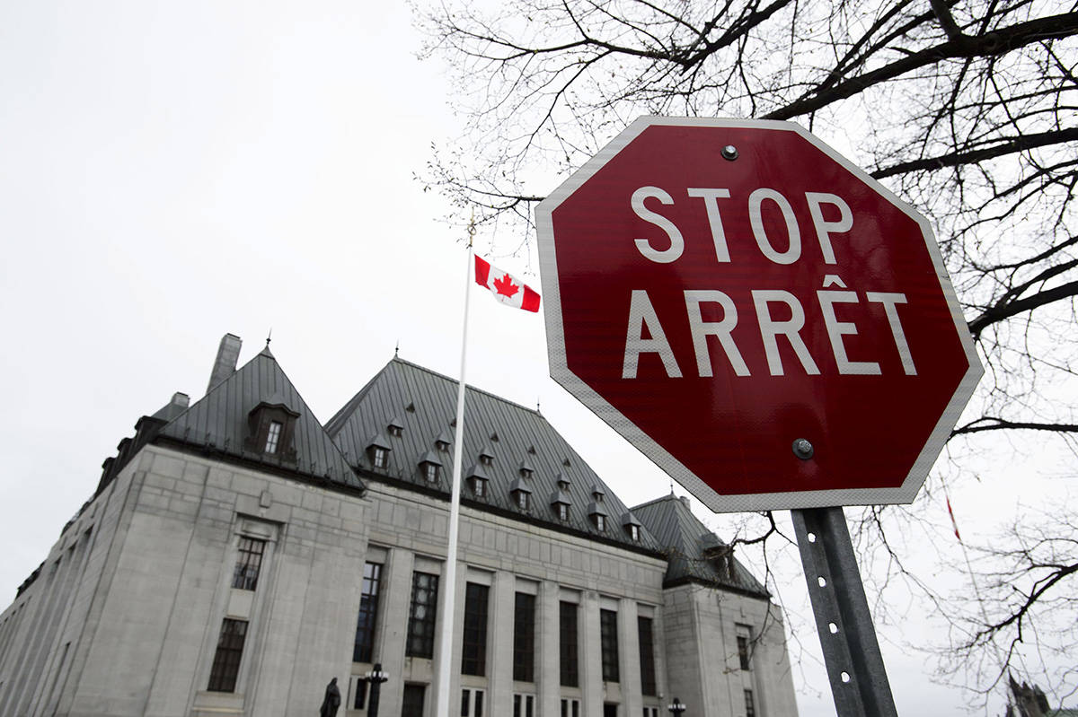 The Supreme Court of Canada in Ottawa on Thursday, May 16, 2019. The Supreme Court of Canada says a Quebec naturopath is not guilty of manslaughter or criminal negligence in the death of an elderly man. THE CANADIAN PRESS/Sean Kilpatrick