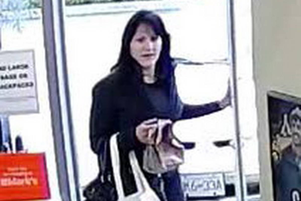 This woman allegedly shoplifted while with a young girl, approximately eight years old.