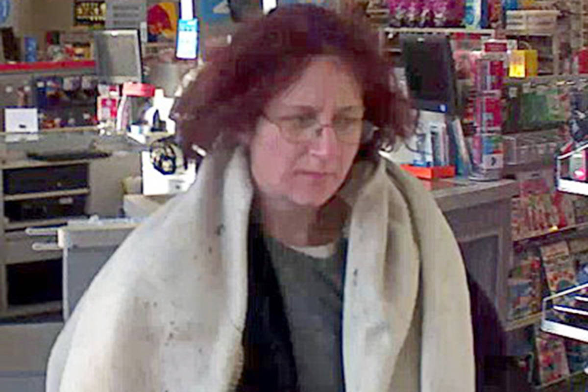 This woman is one of two people who allegedly ran up a $3,000 bill on a stolen credit card.