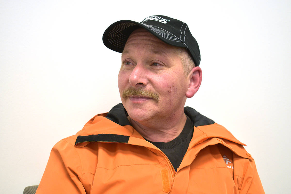 Mike Anderson was walking home on Sparks Street near Davis Avenue on Nov. 15 when he was sprayed in the face with an unknown substance. (Brittany Gervais/Terrace Standard)
