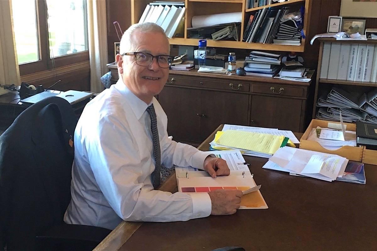 B.C. Forests Minister Doug Donaldson in his B.C. legislature office, Nov. 28, 2019. (Tom Fletcher/Black Press)