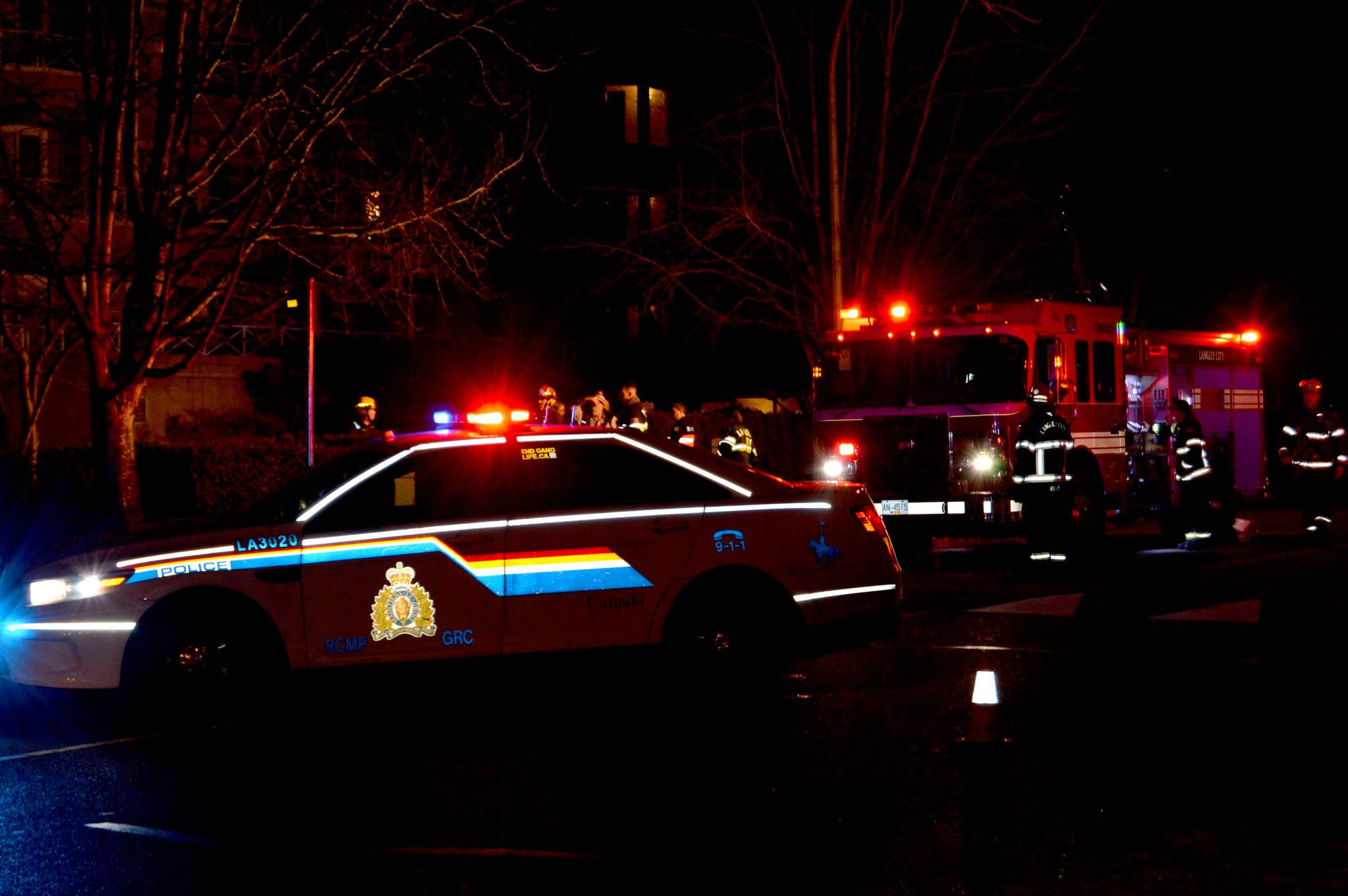 COMMUTER ALERT: Langley City apartment fire has 201A Street blocked off