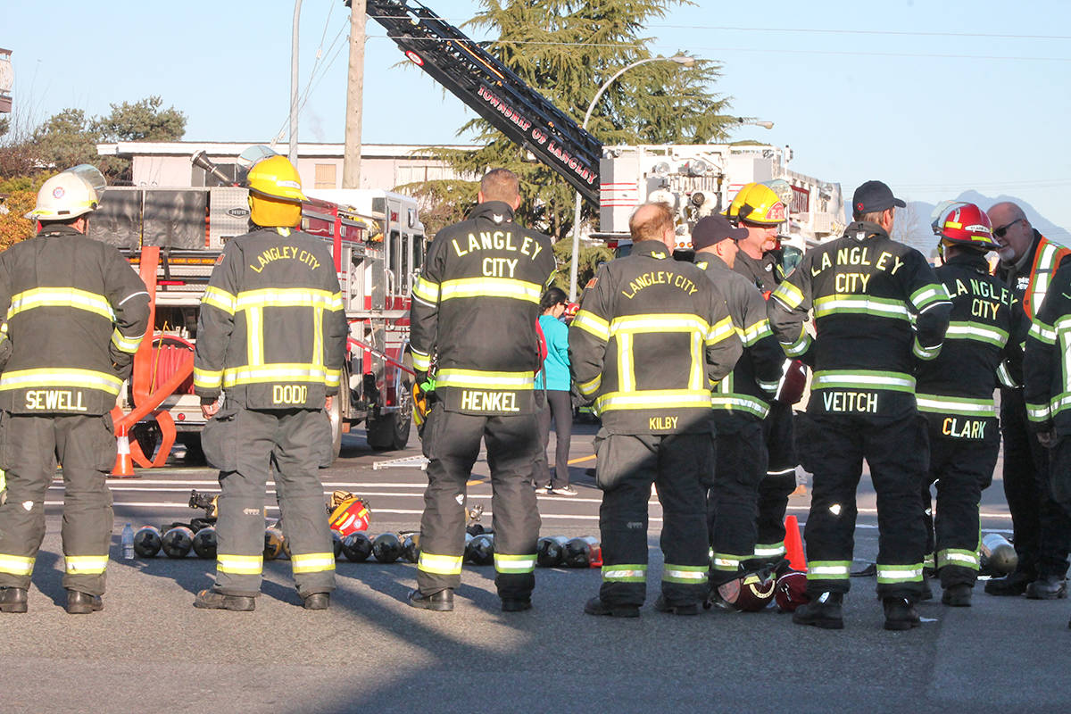 Langley resident Anngela Bayer captured photos of the aftermath of the apartment fire.