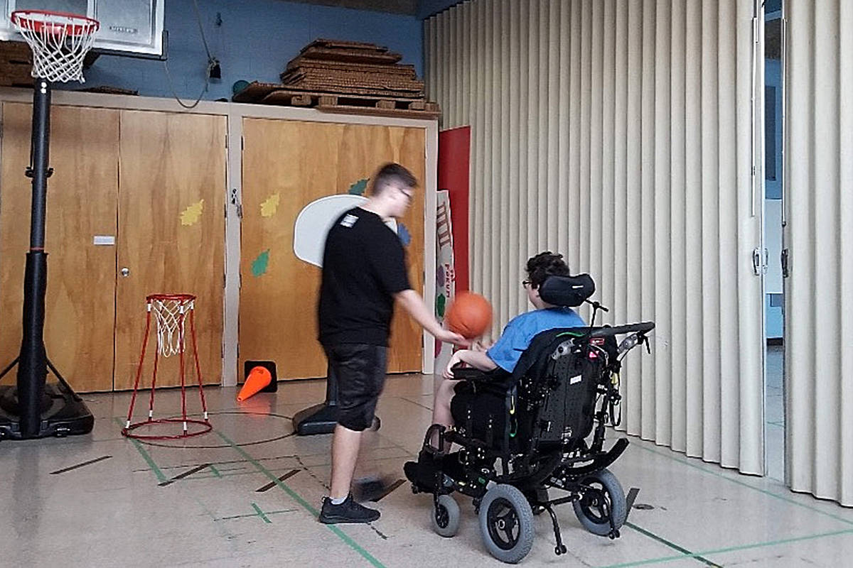 "Jesse Brown has become his ""long road"" to recovery through rehabilitation, after being struck down while walking home from school on Sept. 13. (GoFundMe/Special to the Langley Advance Times)"