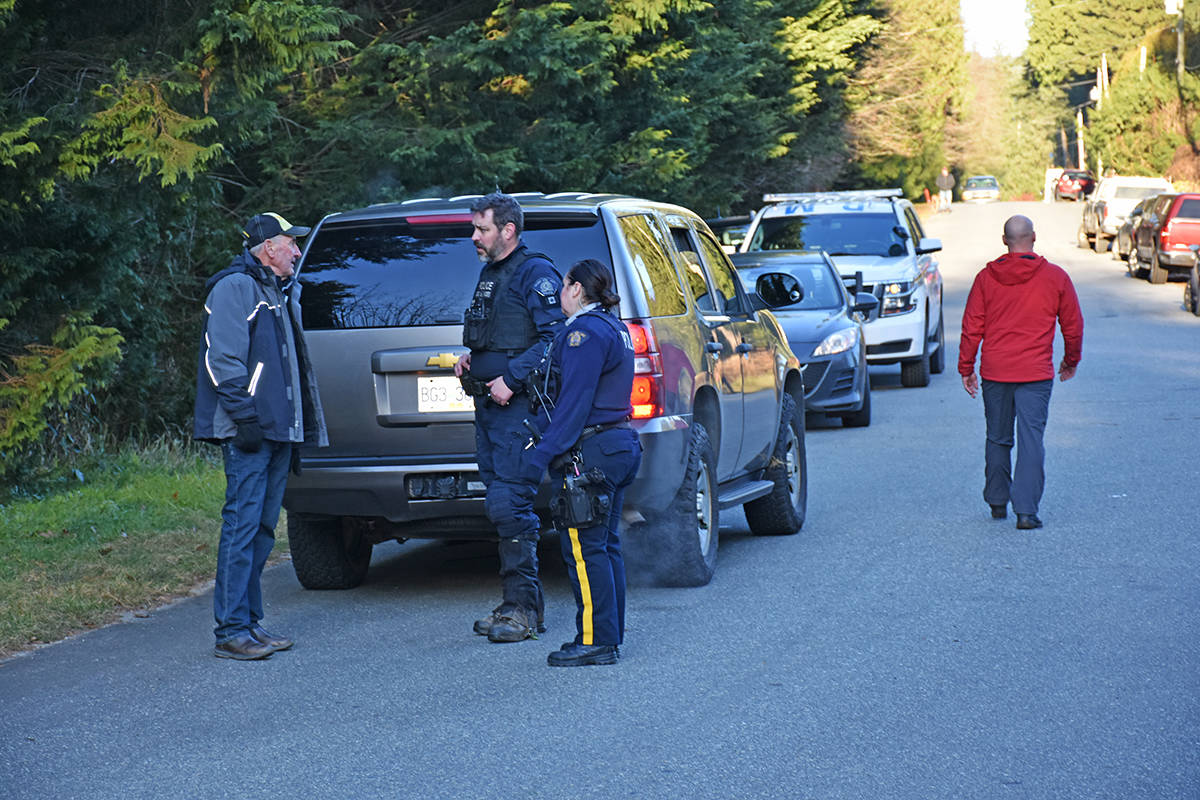 RCMP have been canvassing the neighbourhood and ask residents to check their properties and buildings. (Neil Corbett/THE NEWS)