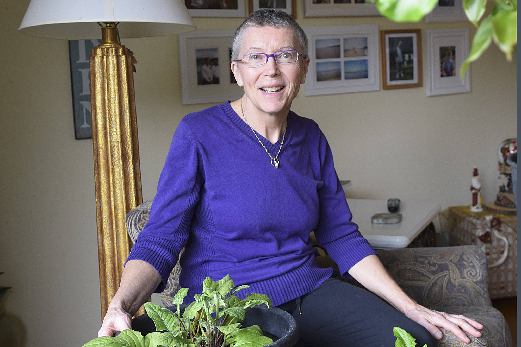 Maureen Kennah-Hafstein is overjoyed at being able to reduce her medication for Parkinson's Disease after undergoing long-awaited Deep Brain Stimulation surgery. (Martha Wickett/Salmon Arm Observer)