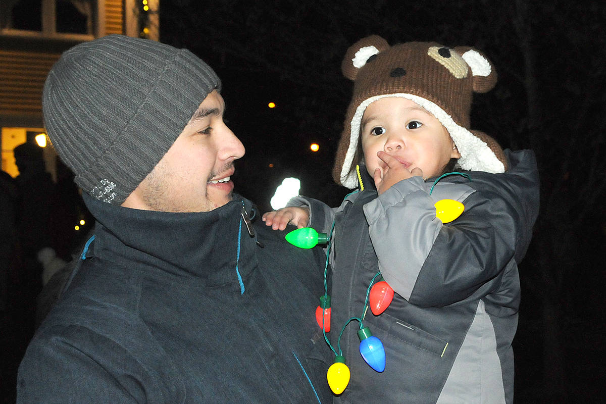 One young visitor brought his own lights. (Dan Ferguson/Langley Advance Times)
