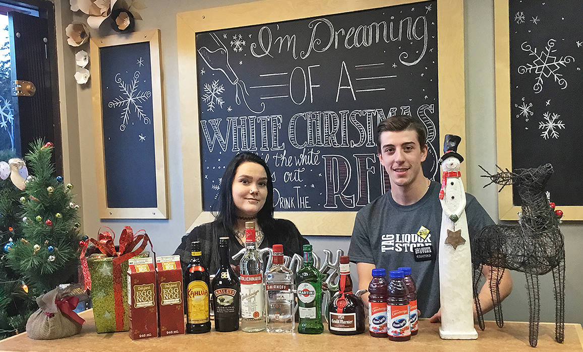 You can find all the ingredients you need to make those delicious holiday-themed beverages at the Brookswood Liquor Store in Langley. Photo by Cheri Gray