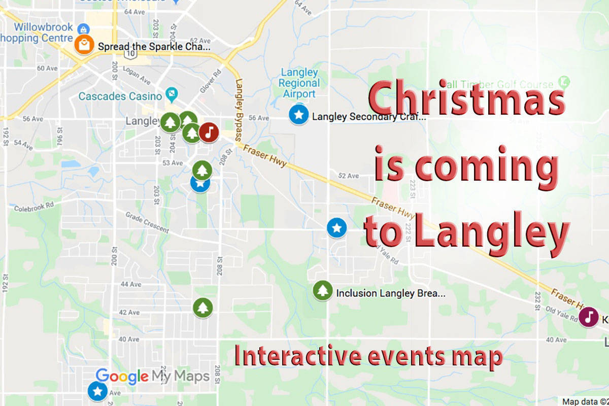 MAP: Christmas lights and displays around Langley