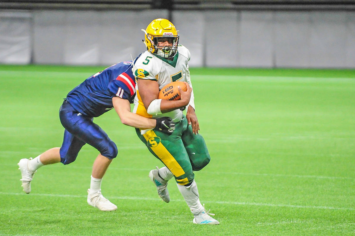 Langley Saints lost to Vernon Panthers at the Subway Bowl B.C. High School Senior Varsity Football championship at B.C. Place Stadium in Vancouver on Saturday, Nov. 30 43-14. (Bernie Crump/Special to Langley Advance Times)