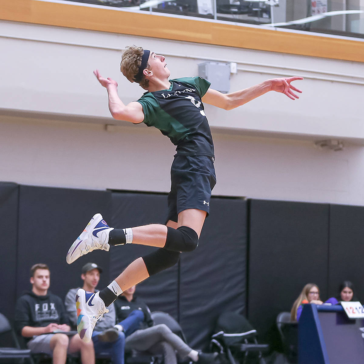 Langley Christian Lightning placed second at the 2A Boys BC Secondary School Volleyball Provincial Championships at Langley Events Centre on Saturday (Nov. 30). (Paul Yates/Vancouver Sports Pictures)