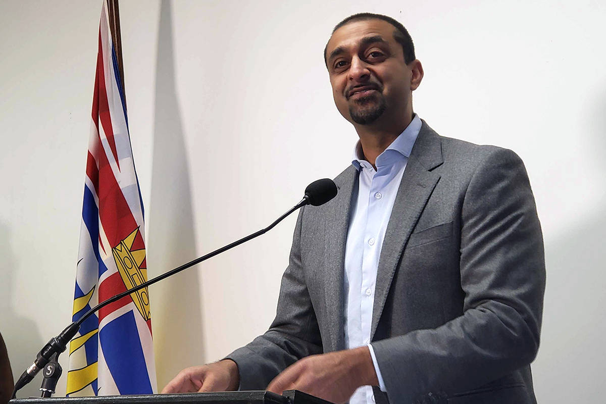 The funding was announced by Ravi Kahlon, Parliamentary Secretary for Forests, Lands, Natural Resource Operations and Rural Development in 100 Mile House on Dec. 2. (Max Winkelman - 100 Mile Free Press)