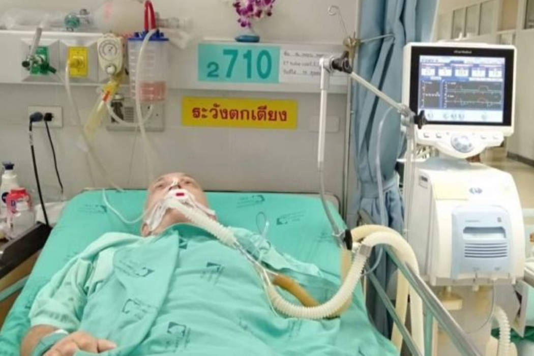 Nanaimo's Dan Treacher remains in hospital in Thailand and his family is trying to raise enough money to medevac him back to Canada. (GoFundMe photo)