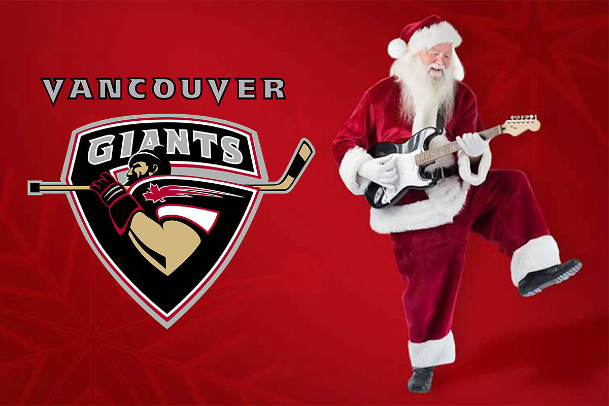 Santa will be leading a singalong at the Langley events Centre on Friday, Dec. 6, when the Giants play the Spokane Chiefs. (Vancouver Giants image)
