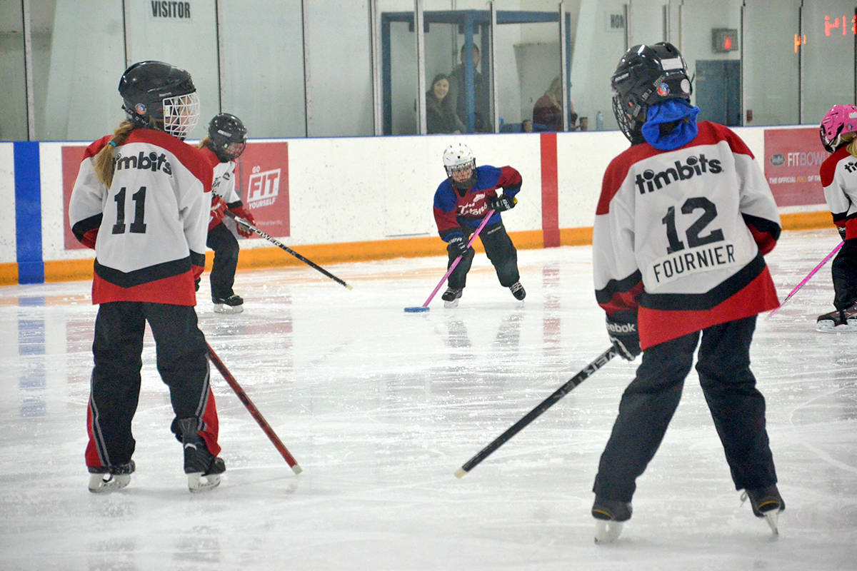 The Michelle Vandale Memorial Spirit of Winter Ringette Tournament attracted players of all ages. (Heather Colpitts/Langley Advance Times)