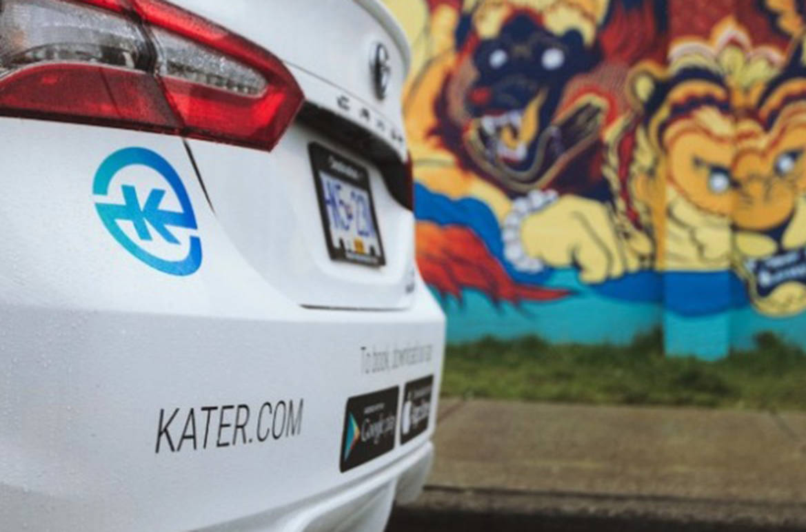 Kater hopes to return to Vancouver as a fully-fledged ride-hailing service. (ridekater/Instagram)