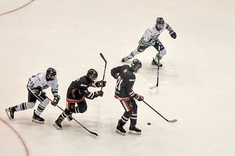 Major Bantam Thunderbirds swept a two-game weekend stand against the Prince George Cougars. (Ilona Schmidt photo)