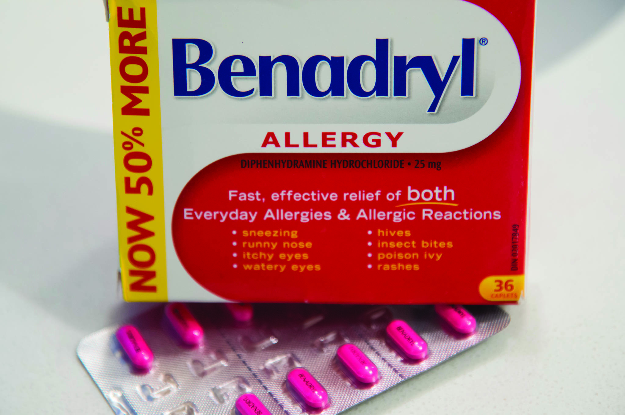 Benadryl is pictured at a home in North Vancouver, B.C., Monday, November, 11, 2019. THE CANADIAN PRESS/Jonathan Hayward