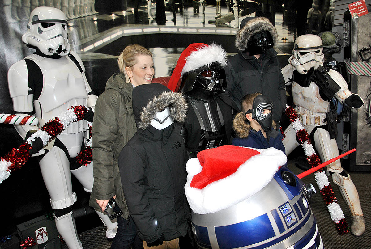 VIDEO: Afternoon with Vader nets coin for Christmas bureau