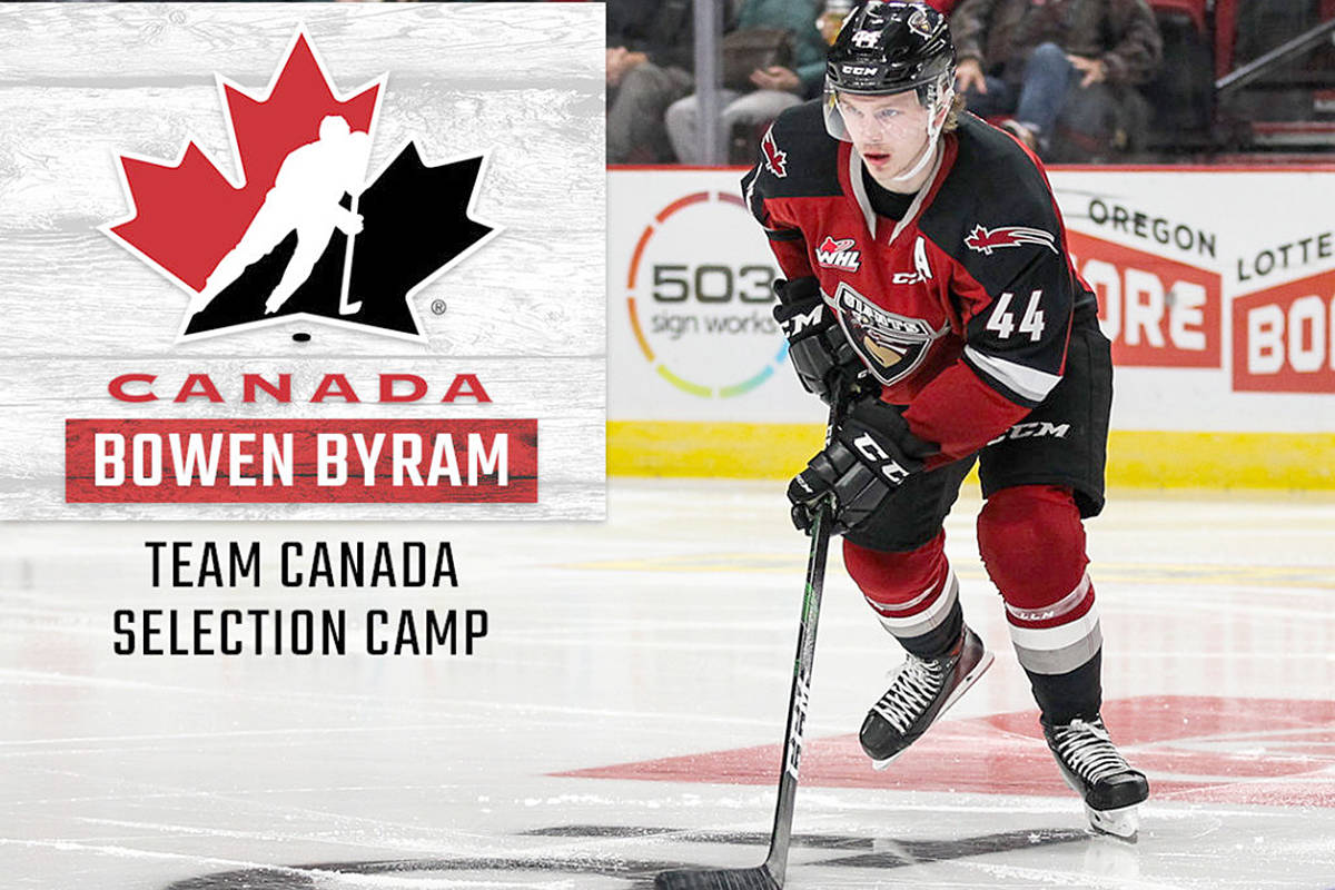 Vancouver Giants defenceman Bowen Byram is one step closer to representing Canada at the IIHF World Juniors. (Giants)
