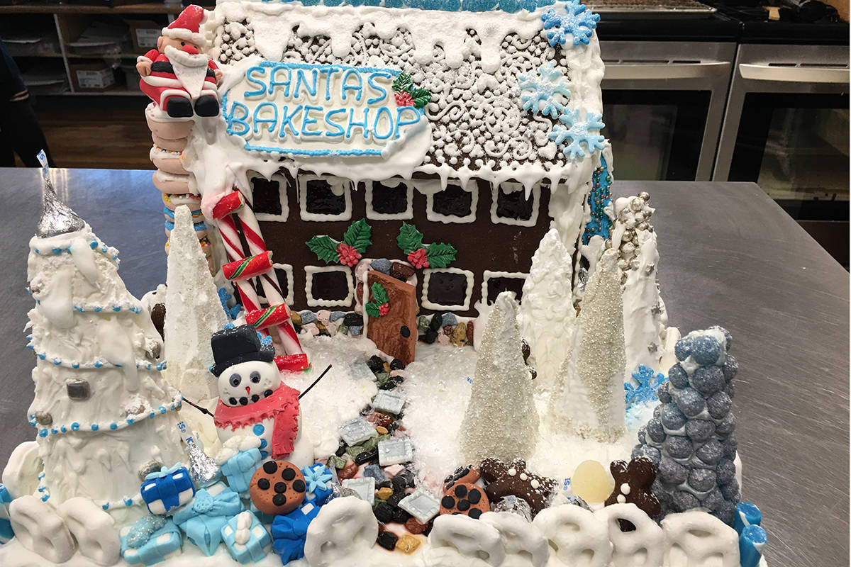 Downtown Langley's Lemon Bakery crafted an engaging creation for this year's inaugural Gingerbread Walk.