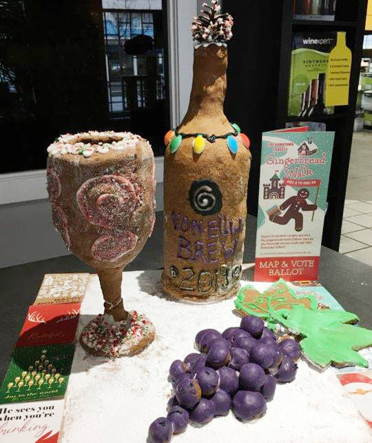 Von eUw Brew tapped into their creativity for their entry for this year's Downtown Langley Gingerbread Walk. Visit them in-store to check it out!
