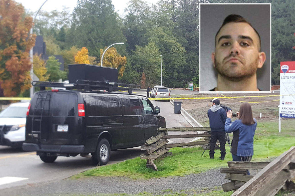 Brandon Teixeira, charged with first-degree murder in connection with the 2017 shooting death of Nicholas Khabra, 28, in South Surrey, was arrested Sunday in California. (RCMP photo; file photo)